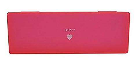 Bleistift Fall Hot Pink Neon mit Herz Printed Design Hard Case
