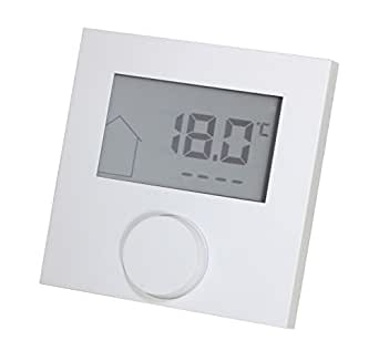 thermostat lcd alpha direct pour chauffage au sol 230 v blanc luminaires et eclairage. Black Bedroom Furniture Sets. Home Design Ideas