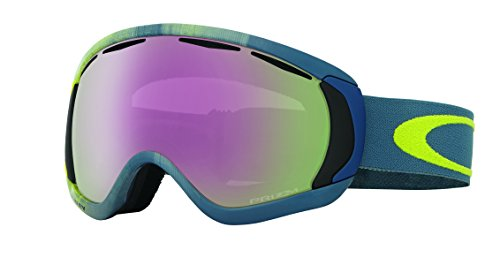 Oakley Canopy Skibrille, Obsessive Lines Citrus/prizm hi pink Iridium, One Size