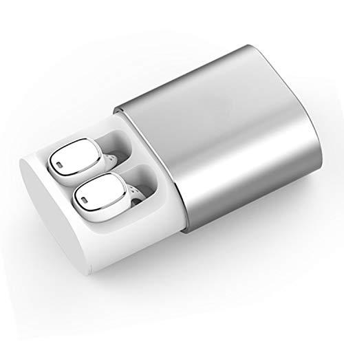 QCY T1 Pro Touch Control Auriculares Bluetooth TWS Mini Auriculares inalámbricos de música con micrófono Manos Libres y Caja de Carga de 750 mAh para Deportes y Horas de Trabajo (Blanco)