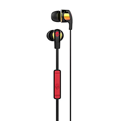 Skullcandy Smokin Bud 2 In-Ear Kopfhörer mit Mikrofon - Spaced Out/Orange Iridium/Afterburner