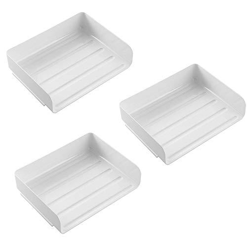 A3 Letter Trays (File Shelf Aktenhalter Aus Kunststoff, Schule/Firma Kunststoff-Magazin Rack Rahmendokument Separator AktenschräNke Und Lagerregale Regal Management Box (Weiß))
