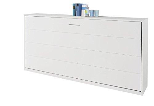 Querklappbett alpinweiß Klappbett Querklappbett Schrankbett Bett 90x200 NEU