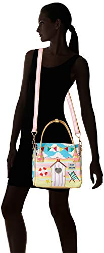 Irregular Choice Womens Beach Hut Bag Cross-Body Bag Blue (Blue/Multi)