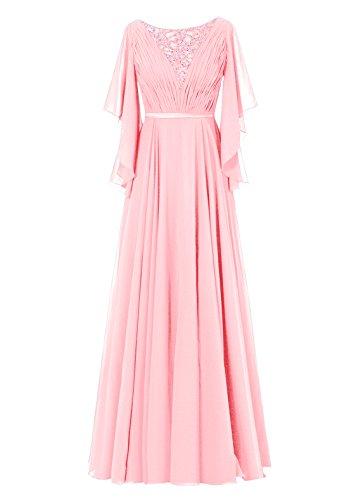 Dresstells, Robe de soirée Robe de cérémonie Robe de mère de la mariée longueur ras du sol Rose