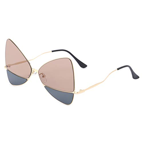 GROOMY 2018 Chic Sonnenbrille Double Color Stylish Triangle Metal Frame Spectacles Unisex
