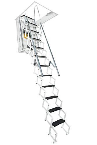 FANTOZZI SCALE Escalera ESCAMOTEABLE MOTORIZADA Premium 120x70x271/305