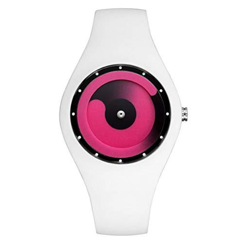 Orologio impermeabile senza puntatore color caramello gli uomini e le donne in silicone amano gli studenti di orologi creativi -candy orologi da uomo moda colorati-orologio sportivo (h)