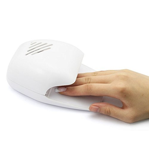 Divinezon Portable Battery Operated Nail Dryer with Fan for Nail Polish, Nail Art, Stamping Kit Etc