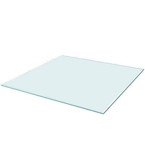 Tischplatte Aus Glas (vidaXL Tischplatte aus gehärtetem Glas quadratisch 800x800 mm Tisch Glasplatte)