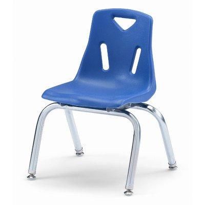 Bayas silla apilable con patas cromadas