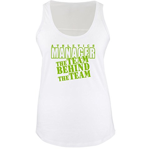 Comedy Shirts - THE TEAM BEHIND THE TEAM - Donna Tank Top canottiera - taglia S-XL different colors bianco / verde