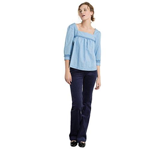 Mademoiselle R Frau Leichte Jeansbluse Gre 38 Blau
