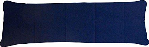 Bezug Stillkissen/Seitenschläferkissen Uni marine - 145x40 cm