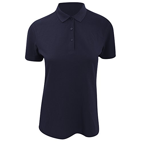 Kustom Kit Damen Slim Fit Polo-Shirt, Kurzarm Hellgrau