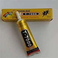 100% Original | 50-ML T7000 Black Adhesive Glue for LCD Touch, Jewelry, Nail Art, Craft etc.