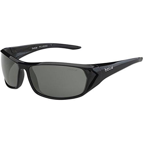 Bollé Blacktail , Unisex Erwachsene Sonnenbrille, schwarz (Blacktail Shiny Black/Black Polarized TNS oleo AF), Einheitsgröße