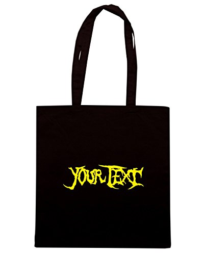 T-Shirtshock - Borsa Shopping FUN1129 custom metal brutality t shirt Nero