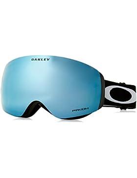 Oakley Flight Deck XM Negro Unisex Azul Lente esférica gafas de esquí - Gafas de esquí (Lentes dobles, Negro,...