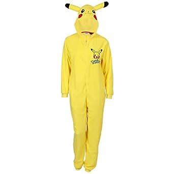 pokemon pikachu ganzk rper schlafanzug schlafoverall onesie einteiler bekleidung. Black Bedroom Furniture Sets. Home Design Ideas