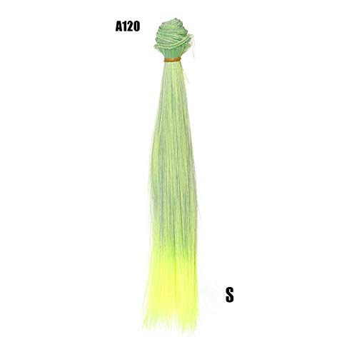Fliyeong Perücken COsplay Party Disco Lustige Mode 25 Cm Großhandel Glattes Haar Haar DIY/BJD Perücke Puppe Langlebig und nützlich