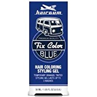 Hairgum Fix Color Temporary Hair Coloring Styling Gel - Blue 1 oz. (Pack of 6)