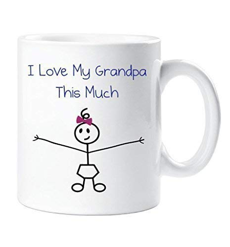 I Love My Grandpa This Much Girls Mug Fathers Day Grandaughter Gift Daddy Birthday Christmas Present