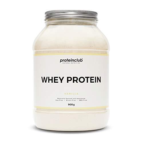 proteinclub Natural Whey Protein ohne Zusatzstoffe - Natürliches Eiweißpulver ohne künstliche Aromen & Süßstoffe - Stevia - Glutenfrei - Sojafrei - Hergestellt in Deutschland - Vanille - 900g -
