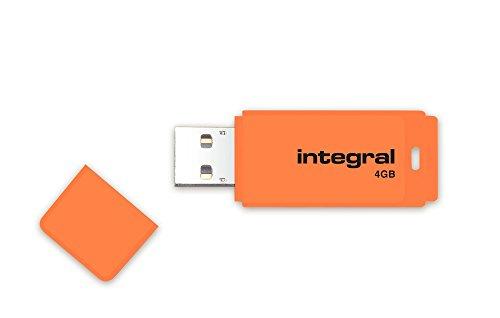Integral INFD4GBNEONOR Neon orange fluo Clé USB 2.0 4 Go