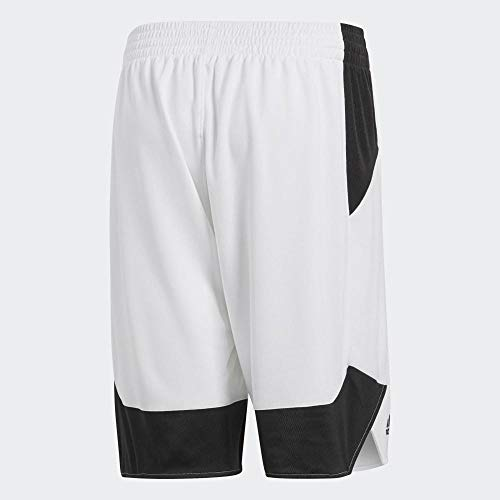 adidas Herren Crazy Explosive Shorts, White/Black, 4XL