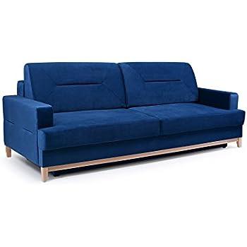 mb moebel velours sofa mit holzrahmen couch mit. Black Bedroom Furniture Sets. Home Design Ideas