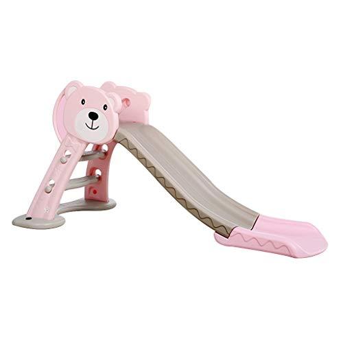 Indoor Kinderrutsche Kunststoffkombination Spielzeug Heimkinder Kletterspielzeug Vergnügungspark Ausrüstung (Color : Pink, Size : 160 * 41 * 81cm)