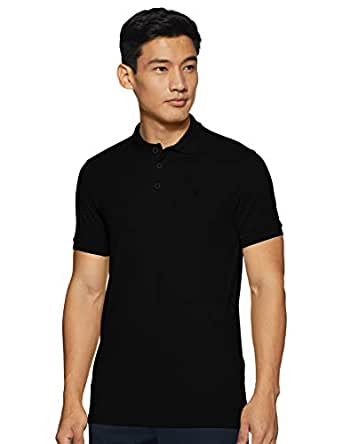 United Colors of Benetton Men's Solid Regular fit Polo (19A3089J0001I_100_M_Black M)