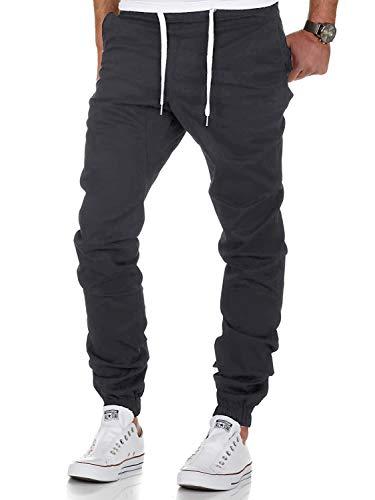 AitosuLa Herren Jogginghose Baumwolle Freizeithose Sport Slim Fit Trainingshose Sweatpants Jogger Pant (Grau, Small)