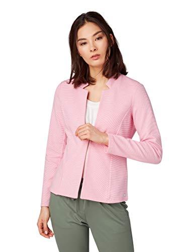 TOM TAILOR für Frauen Blazer & Sakko Blazer mit Strukturmuster Carmine pink, M