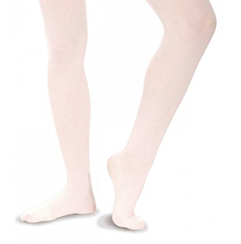 Roch Valley Mädchen Ballett-Strumpfhose, nahtlos, weiß Kinder 8-10 Jahre -