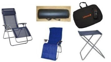 lafuma-r-clip-reflexology-chair-recliner-package-towel-black-bag-stool-bolster