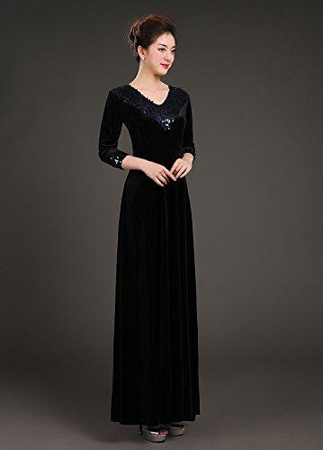 Drasawee - Robe - Taille empire - Femme Noir