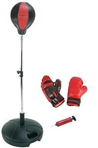 HUDORA Punchingball Set mit Boxhandschuhen & Pumpe - Boxsack-Set - 74501/01
