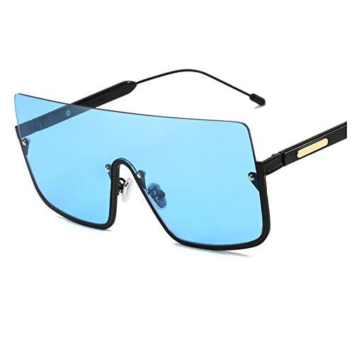 Vintage Rechteck Sonnenbrille UV400 Übergroße Flache Sonnenbrille Square Retro One Piece Shield Sonnenbrille Unisex Travel Sonnenbrille,B