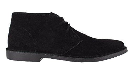 Red Tape Gobi pour homme daim pour chaussures à lacets classique Noir - noir