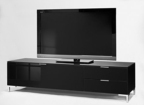 CS Schmalmöbel 45.102.507/012 TV-Board Cleo Typ 12, 163 x 50 x 44 cm, schwarz / schwarzglas - 2