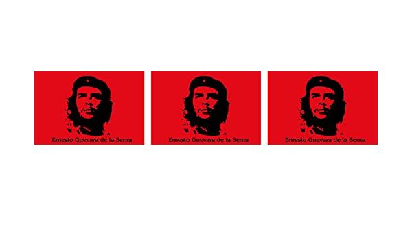 Etaia 2 5x4 Cm 3x Mini Aufkleber Che Guevara Rot Revolution Kleine Sticker Auto Fahrrad Motorrad Handy Auto