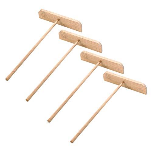 UPKOCH 4pcs Holz Bamboo Crepe Spreader Pancake Spreader Teig Verbreitung Tools -