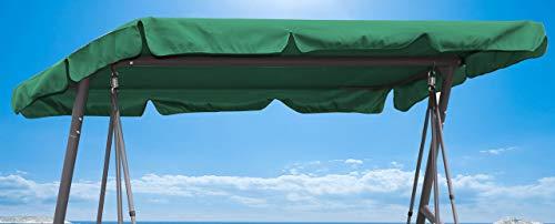Quick-Star Ersatzdach Universal Hollywoodschaukel 3 Sitzer Grün Ersatz Bezug Sonnendach Schaukel Dach