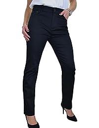 ICE Taille Plus Féminine, Jeans Stretch, avec Jambes Droites Noir 42 à 52