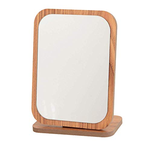 CXLT Kosmetikspiegel HD Countertop Schminkspiegel Tragbare Mode Einfach Einseitig Tisch Schönheit Tischspiegel Für Frauen Frauen Geschenk,C-19 * 14CM