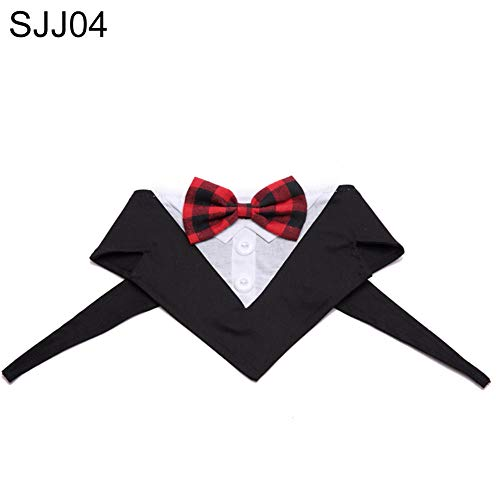 Huhuswwbin Fashion Dot Gitter Muster Hund Halsband Halsband Party Hochzeit Krawatte Decor - M SJJ07# - Licht Blau Kleinkind-shirts