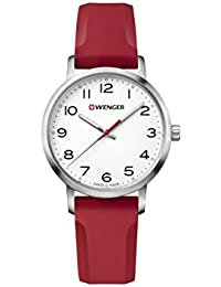 Wenger 01.1621.105 Women's Avenue White Dial Red Silicone Strap Watch