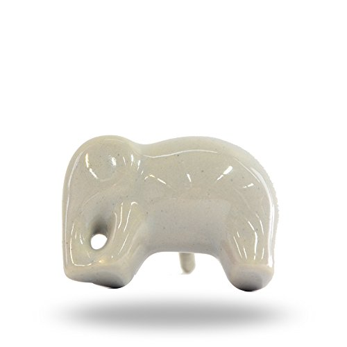 Keramik grau Elefant Knauf von trinca-ferro (Grau Glas-möbelknöpfe)